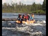 Сплав по реке Охта в 2013 г. Водная 3-ка. Группа туристов ХОТСС.